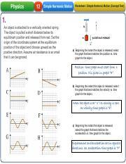 03a - Simple Harmonic Motion - Answer key.pdf - Physics 12 ...