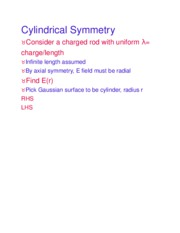 Cylindrical Symmetry