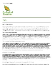 FAQ_ Ecological Footprint Quiz by Center for Sustainable Economy