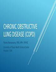 Chronic obstructive lung disease (COPD)