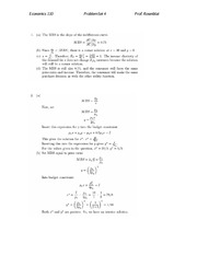 ECON 110 Fall 2007 Problem Set 4 Solutions
