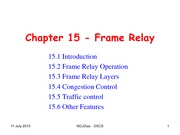 Chapter 15 - Frame Relay