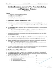 13 Section The Monetary Policy and Aggregate Demand
