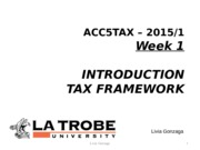 ACC5TAX S 2015 Week 1- Introduction LMS