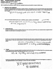 Senior English Essay 1 workshop Worksheet