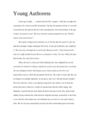 Young Authoress Article