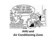 5 AHU and air conditioning zone