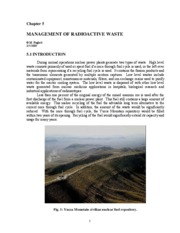 5. Management of Radiooactive Waste