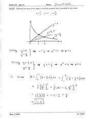 Math 122 Quiz 6 Solutions