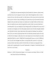 reflection paper on breaking social norms What are some unique ideas for a breaking social norms experiment what's the weirdest social norm that nobody seems to question can you suggest a social norm that i can break.