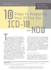 10 steps to preparing your office for ICD-10--now.