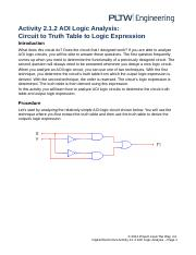 2.1.2AOILogicAnalysisCircuittoTruthTabletoLogicExpression