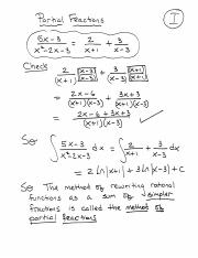 Partial Fractions (Lecture 5)