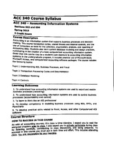 acc 416 syllabus for spring 2015 Clinical nurse specialist role immersion nur 864 sections 732 & 736 6 credits (1 credit theory/5 credit clinical) online course spring 2015 course description: synthesis, integration, and clinical application of the essential concepts and  the course will not open until the official start of the msu spring semester.