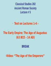 Classical Studies 202 Lecture 5.ppt