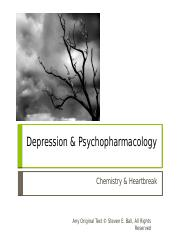 Psychopharmacology and Mood Disorders - Part 1. Depression v3