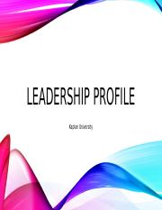 final assignment 1 your leadership profile Result in even greater numbers of high-profile failures  this paper defines what  a leadership strategy is and how to go about creating one for your organization  that  in order to understand what a leadership strategy is, we first have to be  clear about what  enhanced importance of foreign assignments for future  leaders.