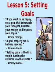 Lesson 5 Goals.ppt