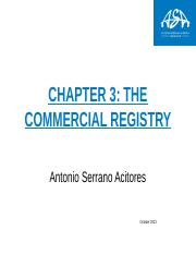 chapter 3 The commercial Registry