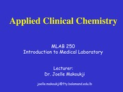 Applied Clinical Chem