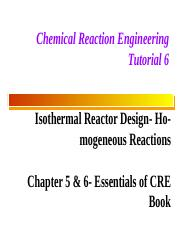 CRE-Tut 6-Isothermal Reactor Design-Solved Problems.pptx