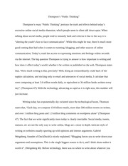 Essay on Youth to Youth Communication