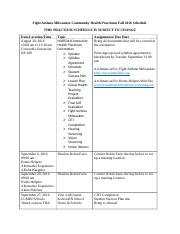Fight Asthma Milwaukee Community Health Practicum Fall 2016 Schedule(1)
