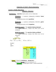 chemistry_12_unit_5_notes
