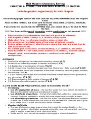CHEMISTRY CHAPTER 1 REVIEW - Holt Modern Chemistry Review CHAPTER 1