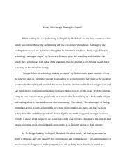 Sts Science Technology And Society  Clemson University  Pages Sts Essay Docx
