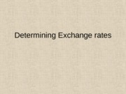 Ch 12 Determining the Exchange rate