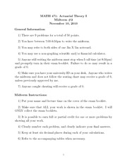 Fall 2010 Midterm 2 Solutions