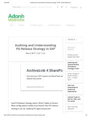 Auditing and Understanding PO Release Strategy in SAP _ Adarsh Madrecha.pdf