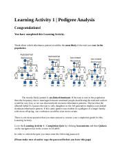 Learning Activity 1 - Results