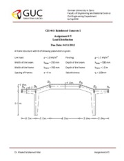 Assignment #5 Design of Reinforced Concrete Structures