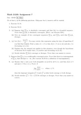 Math 2123 Assignment 7