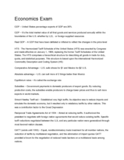 TAMIU Macroeconomics 2301 Chapter 5 & 7 Part I