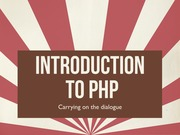 Lecture 3 - Introduction to PHP