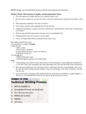 1Week 2 Notes File Formats, Graphics & Documentation Presentation NOTES