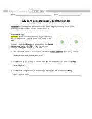 Samantha Cruz - Covalent Bonds - Name Date Student ...