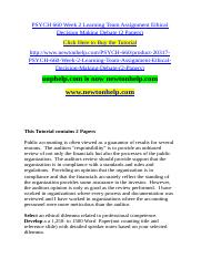 PSYCH 660 Week 2 Learning Team Assignment Ethical Decision Making Debate (2 Papers).doc