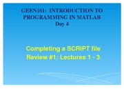 Completing a SCRIPT file Lecture Material