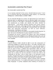 Personal Leadership Development Plan draft c