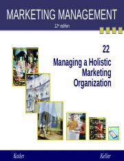 marketing management (31 slides) organization and marketing orientation