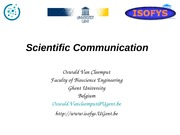 Scientificcommunicationgeneraloverview