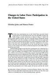 Juhn-Potter labor force participation JEP