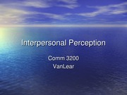 Interpersonal Perception sp 13 edited wo ex