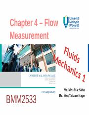 Chapter 4 Fluids Mechanics 1 (flow measurement) (1)