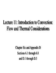 Lecture 11- Intro Convection