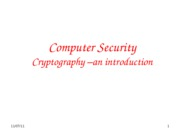 Cryptography- An Introduction